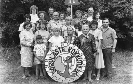 Sõrulaste kokkutulek 1988, Ula küla inimestest.