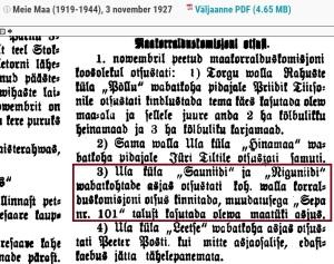 Meie Maa 3. nov 1927